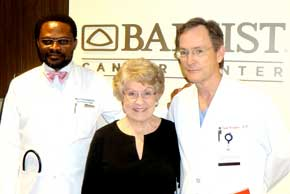 Marthanne Maroney with Baptist Cancer Center doctors